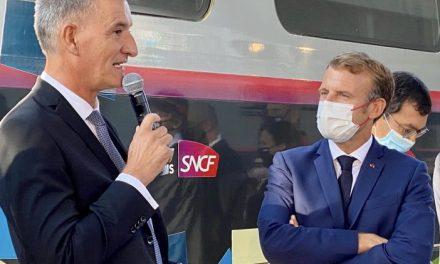 Le Président Emmanuel Macron célèbre 40 ans de TGV